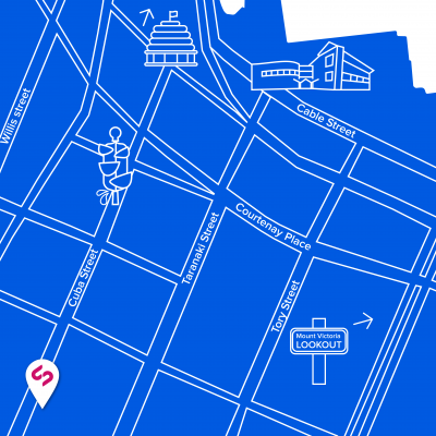 A map of where the Silverstripe office is located in Wellington