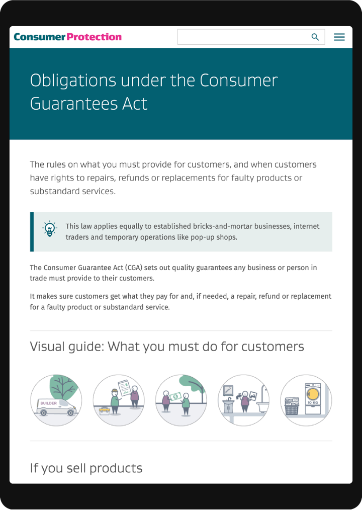 Consumer Protection tablet 3